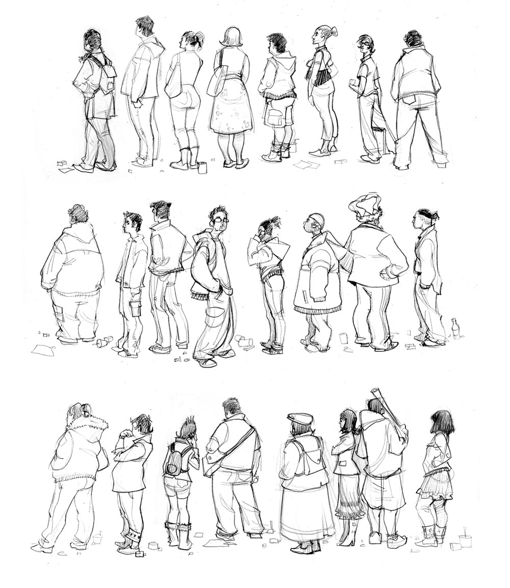 Best Line Drawing Simple Line Drawings of People